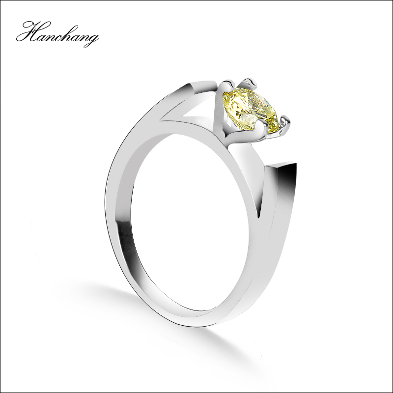 HANCHANG Female Rings Jewelry Once upon a time Princess Wedding Ring Jewelry Women Snow  ...