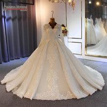 Szata de soiree suknia ślubna 2020 suknia ślubna całe z koralików ręcznie szyte 100% prawdziwa praca