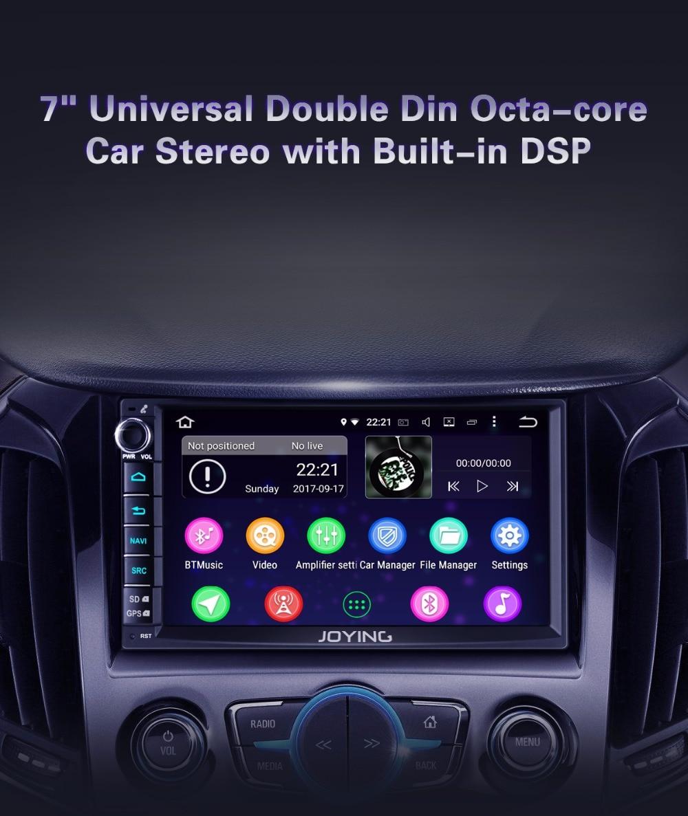 Joying 7'' 2 Din Car Radio Android 8 1 4GB RAM Octa Core Autoradio Audio  Stereo GPS DSP SWC Multimedia