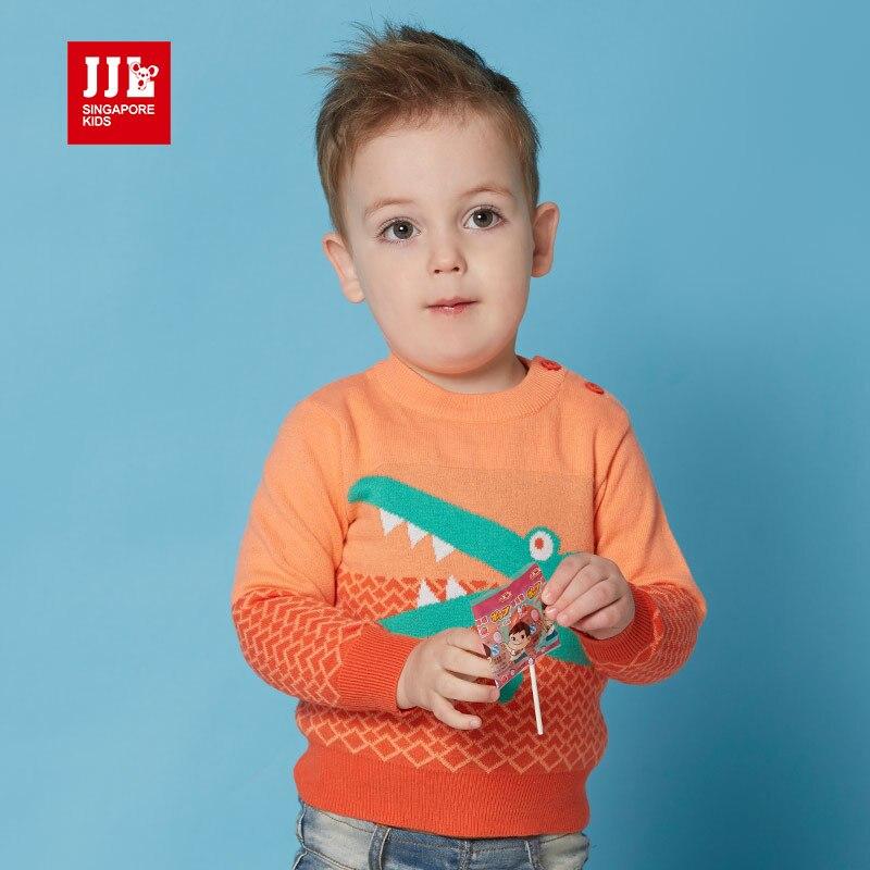 2016 spring new kids baby boy sweater 100 cotton crocodile pattern children sweater newborn o neck