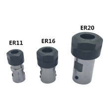 1pc ER20 8MM 10MM 12MM 14MM 16MM Collet Chuck Motor Shaft Extension Rod Spindle Collet Lathe Tools Holder Milling Boring(China)