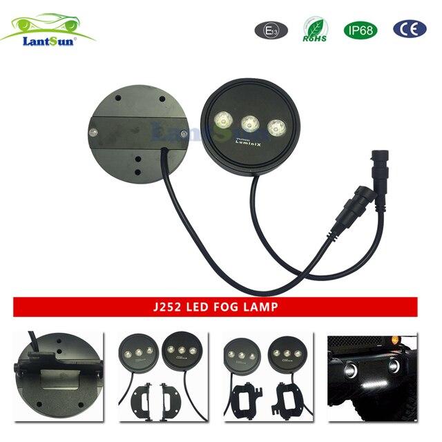 pair Lantsun J252 easy install 6000K 15w 4 Inch Luminex LED fog ...