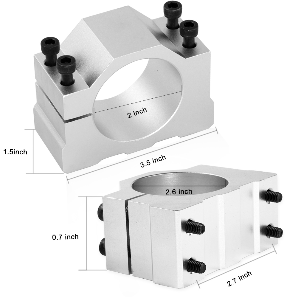 Image 5 - 0.5kw Air cooled spindle ER11 chuck CNC 500W Spindle Motor + 52mm clamps + Power Supply speed governor For PCB Engraving-in Machine Tool Spindle from Tools