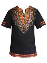 Reale Gli Uomini Vestiti Bazin Africano Dashiki Stampa del Cotone di Modo T Shirt da Uomo top Abiti Tradizionali