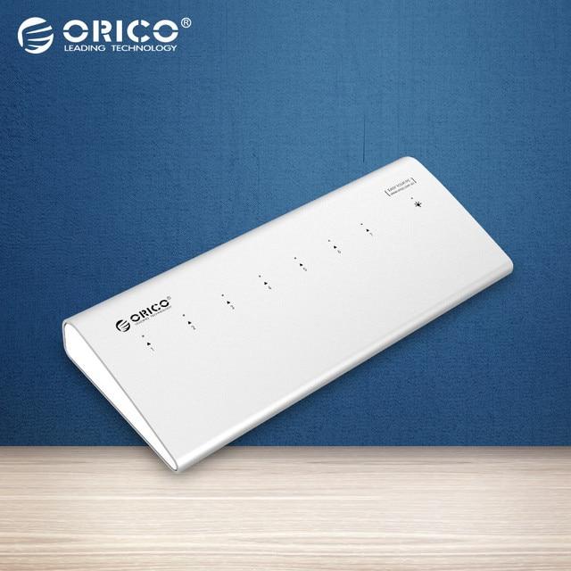 ORICO H73-SV 5 Gbps de Alta-Velocidade HUB Splitter USB 3.0 Driver do HUB usb 7 Portas de Alumínio-Prata