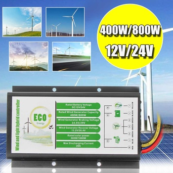 DC 12V/24V 20A Waterproof Solar Wind Hybrid Charge Controller 400W/800W Wind Light Hybrid Controller+500W/1000W Solar Generator