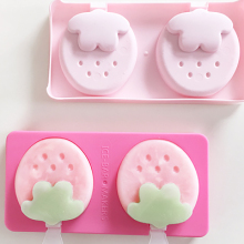 Cute two Homemade Ice Cream Strawberry popsicle mold 20.3*10.3*2.5cm Free shipping все цены