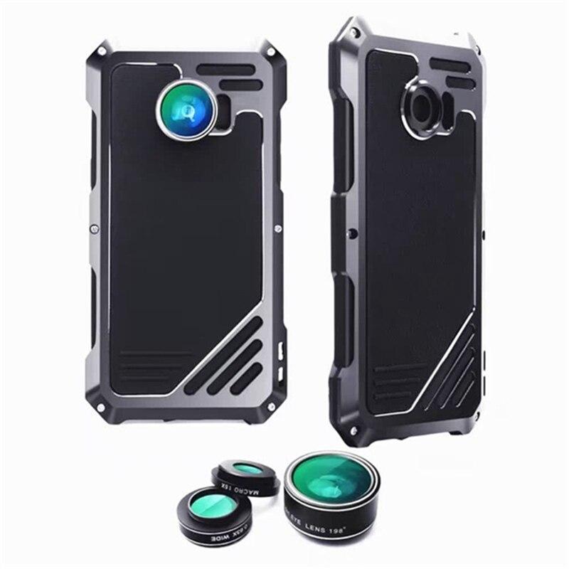 imágenes para Caja protectora del teléfono-dirt prueba de golpes cubierta + tres teléfonos móviles lente de la cámara para samsung para galaxy s7 edge g9350 portátil