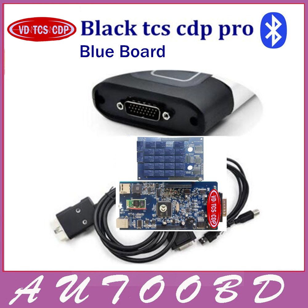 4PCS DHL Freehship Black VD TCS CDP Two Board with bluetooth Works On Cars Trucks OBDII OBD2 Professional Auto diagnostic tools new arrival new vci cdp with best chip pcb board 3 0 version vd tcs cdp pro plus bluetooth for obd2 obdii cars and trucks