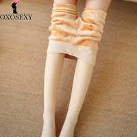 150g-500g pele preta mais tamanho grosso meia-calça para mulher outono inverno meias quentes mais veludo collants femme 145