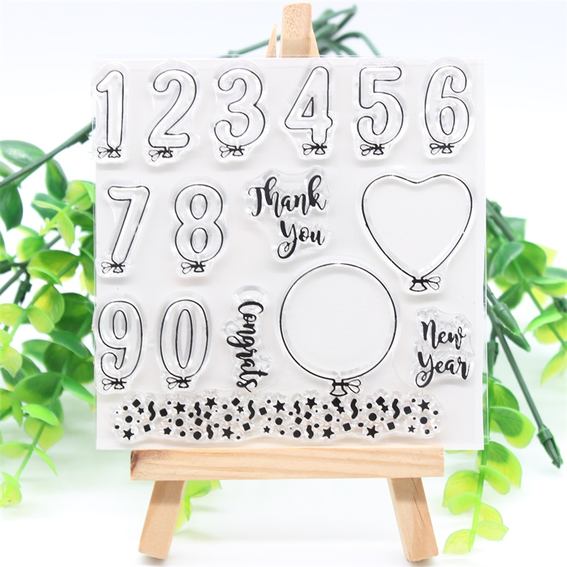 KSCRAFT Balloons Transparent Clear Silicone Stamps for DIY Scrapbooking/Card Making/Kids Crafts Fun Decoration Supplies 425