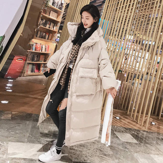 Down Cotton Women Winter Jacket BF Style Stand Collar Long Parka Women Winter Coat Plus Size Oversized Coats Female Jacket C5114 3
