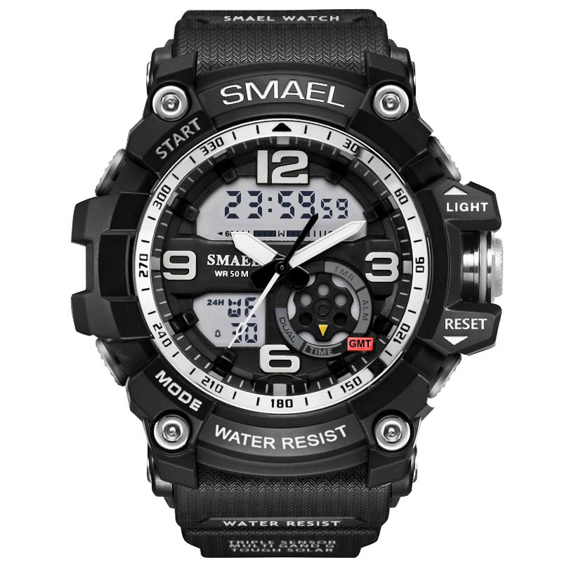 SMAEL Sport Digital Men Watch Men Quartz Waterproof Led Dual Display WristWatch Wrist Army Male Relogio Masculino Hodinky New 46 criancas relogio 2017 colorful boys girls students digital lcd wrist watch boys girls electronic digital wrist sport watch 2 2