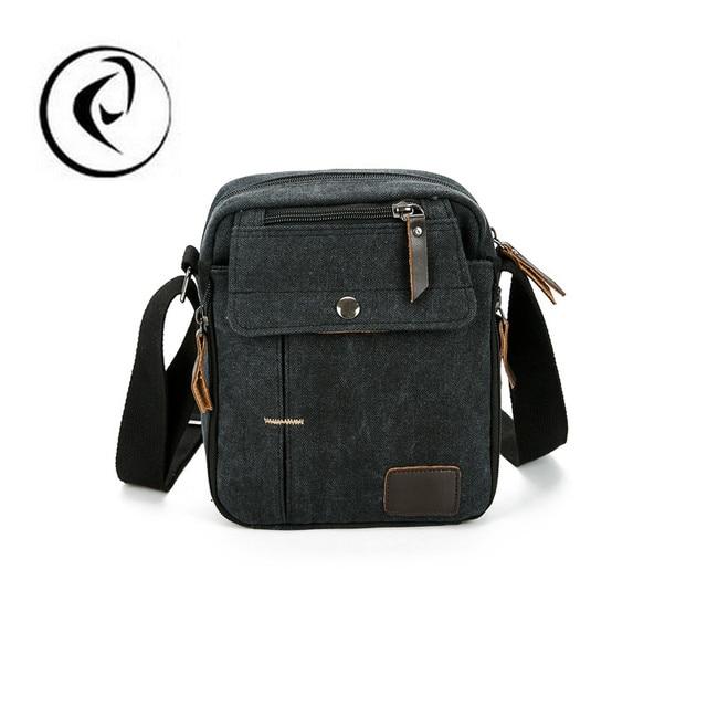 Top-Handle Bags 2017 Bolsa Sling Bag Homens Mensageiro Sacos Crossbody Para Homens Bolsos Mujer Lona de Alta Qualidade bolsa