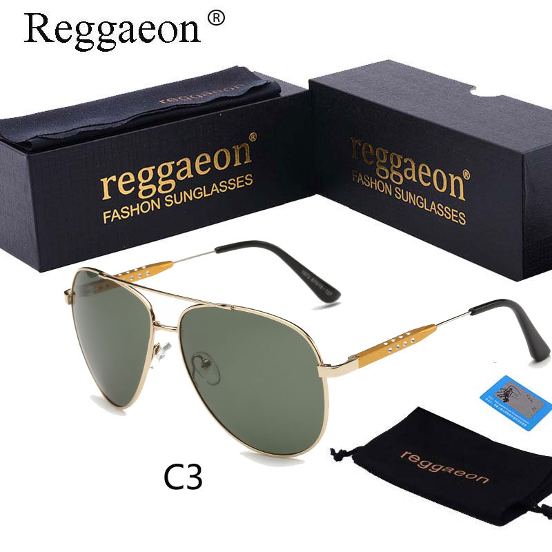2018 reggaeon High Quality Aviator Sunglasses Men Polarized Aluminum Magnesium retro Glasses HD Lens Sun Glasses Oculos de sol