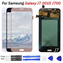 купить J7 LCD AMOLED OLED For Samsung Galaxy J7 2015 J700 J700F J700M J700H LCD Display Touch Screen Digitizer Assembly J700 LCD J70F недорого