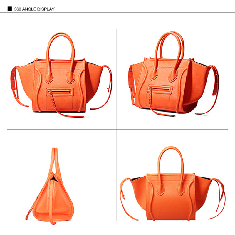 Luxe Designer large large Mode En Fourre Smiley Embrayages Marque Gray Black Black À Qualité Cuir Trapèze De Medium medium Orange small Bolsa Sacs tout Célèbre Orange medium Orange small Red Feminina Main Gray Visage large Femmes small 2019 medium Red Black Sourire f5SqII
