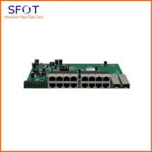 цена на Free shipping, 4pcs/lot, Reverse POE Switch board, 16 ports FE with 2 gigabit sfp ports, with or without Vlan for your choice
