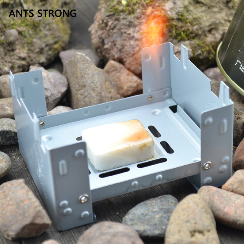 ANTS STRONG thicken foldable outdoor alcohol stove/travel olid fuel BBQ stove lightweight barbecue equipment