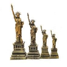 Creative Bronze American USA New York the Statue of Liberty Replica Model Metal Free Goddess Figurines Desk Table Decorations