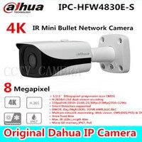 Free shipping New Dahua 4K IPC HFW4800E upgraded to IPC HFW4830E S Ultra HD Network Small IR Bullet IP Camera English Firmware