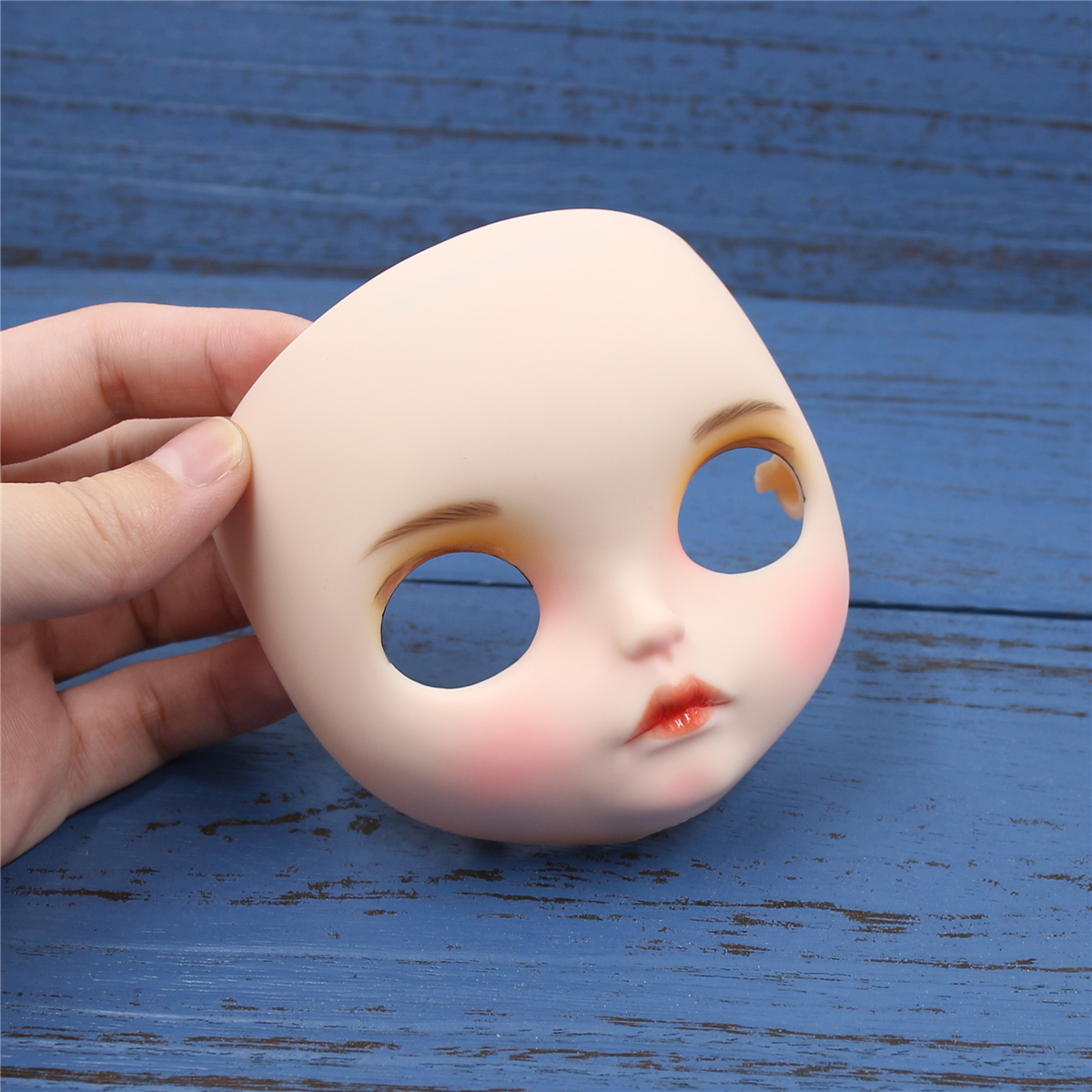 1/6 Toy Face Factory Blyth Doll Customized Faceplate Lips Carves Eyebrow Matte Face Including The Back Plate And Screws