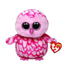 Ty Beanie Boos Stuffed Plush Animals Pink Owl Toy Doll With Tag 6 15cm