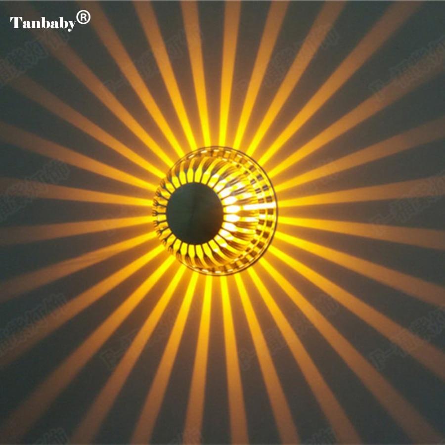 Tanbaby Hot prodej Vysoká kvalita 3W LED nástěnná svítidla tvaru dýně AC85 ~ 265V led nástěnná svítidla Moderní krátká koupelnová LED nástěnná svítidla