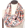 lady new chiffon aztec scarf geometric tribal beige navy blue multi echarpe Infinity loop scarf beach shawl scarves for women