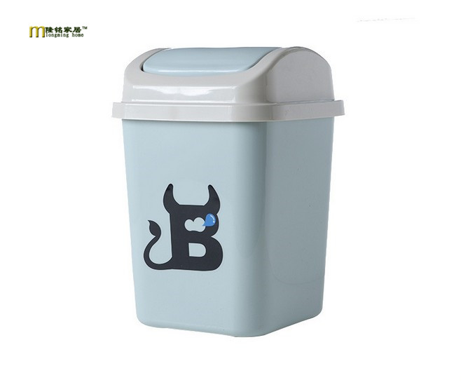 1PC Household Eco-Friendly Waste Bins Plastic Dustbins Round Trash Can Debris Garbage Can Storage Box Shelves Ash-bin LF 079