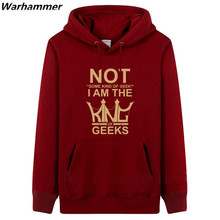 NOT SOME KIND OF GEEK I'M THE KINGS OF GEEKS man's must have hoodies& sweatshirts youth classic overcoat U.S size quick shipping
