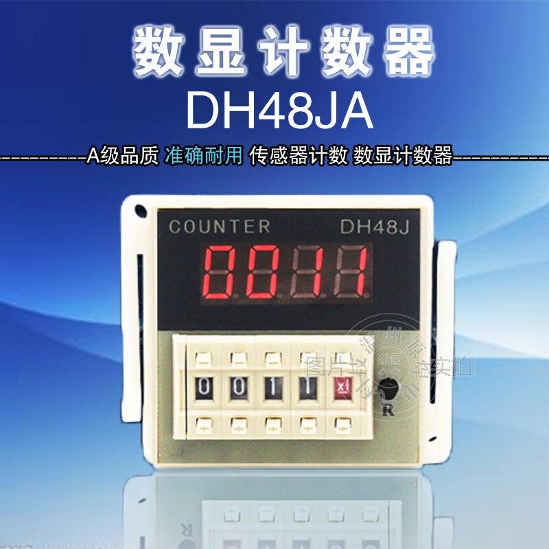 цена на Digital display counter DH48JA preset electronic counter 220V380v24v 8 foot send seat DH48J-8A