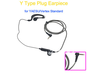 Headphone/Earphone with MIC for Yaesu/Vertex Standard VX-1R,FT-60R,VXF-1,VX-110,VX-150,FT-50,VX-130,VX-160,VX-168 portable radio image