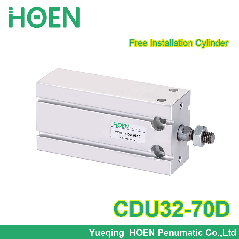 Free MOUNTING CDU32*70 32mm bore 70mm stroke Male Thread Single Rod Double action Air Pneumatic Cylinder CDU32-70 32x70 free shipping cdu 20 5 male thread single rod air pneumatic cylinder cdu 20 5