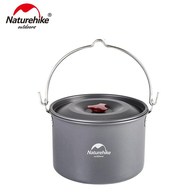 Batterie de cuisine extérieure 4-6 personnes naturetrek 4L ustensiles de cuisine pour Camping pique-nique set Pot NH17D021-G