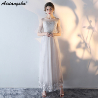 2018 новые кружевные платья полупальто подружки невесты с аппликацией Элегантное свадебное платье для гостей на свадьбе платье vestidos