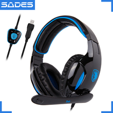 SADES SNUK Virtual 7.1 Surround Sound Headphones Original USB Plug Gaming Headset for Gamer