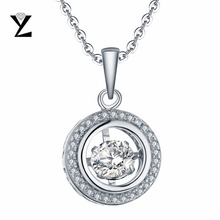 Фотография YL Natural Topaz 100% 925 Sterling Silver Fashion Fine Jewelry Pendants Necklaces with Dancing Natural Topaz for Women Wedding