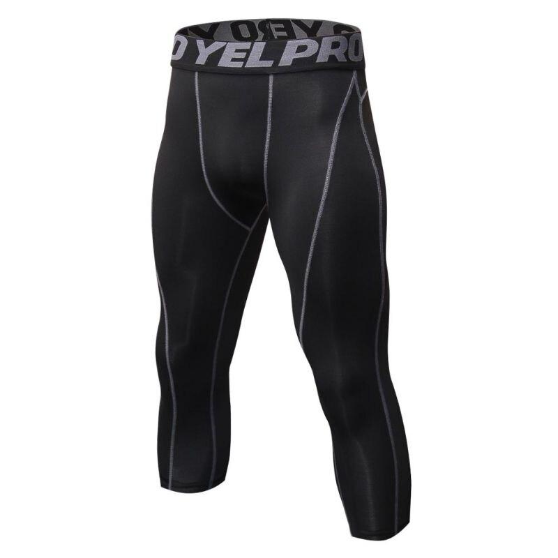 2018 Elastische Männer Hosen Fitness Jogger Kompression Strumpfhosen Lange Hosen Leggings Mens Wear Mid-kalb Länge Männliche Hosen