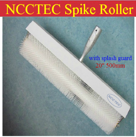 20'' NCCTEC spike roller with splash guard 500mm for removing bubbles in epoxy industrial flooring teeth height :11mm 20 ncctec spike roller with splash guard 500mm for removing bubbles in epoxy industrial flooring teeth height 11mm