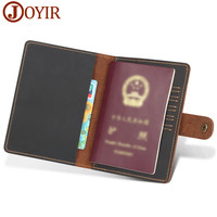100% Genuine Leather Passport Cover Travel Business Card Holder For Men Women Vintage Passport Case Credit Card ID Holders Bags