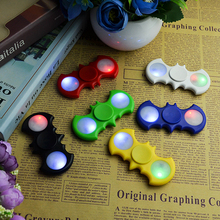 Luminous Finger Spinner Batman LED Light Colorful Fidget Spiner Rotation Stress Reliever Hand Spinner For Kid