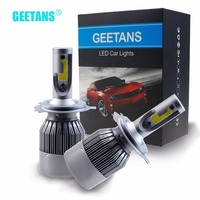 GEETANS 72W HB4 HB5 H4 H7 H13 H11 H1 9005 9006 COB LED Headlight Car LED
