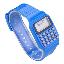 Boys and girls silicone date display electronic watch multifunction calculator
