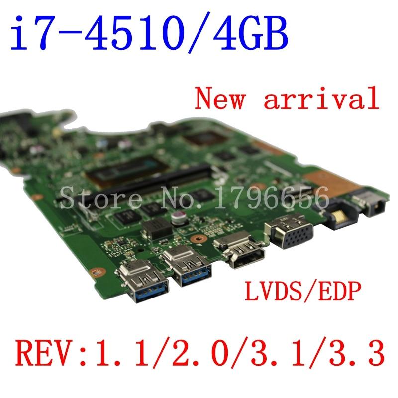New!!! X555LP-I7-4510-4G motherboard For ASUS X555LD VM590L R556L W519L R557L X555LI rev2.0/1.1/3.1/3.3 laptop motherboard kefu x555ld for asus x555ld r557l laptop motherboard rev2 0 1 1 3 1 3 3 i5 cpu motherboard tested motherboard