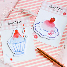 4 pcs Delicious cake sticky note Strawberry post memo pad sticker marker it notepad Stationery Office School supplies F058