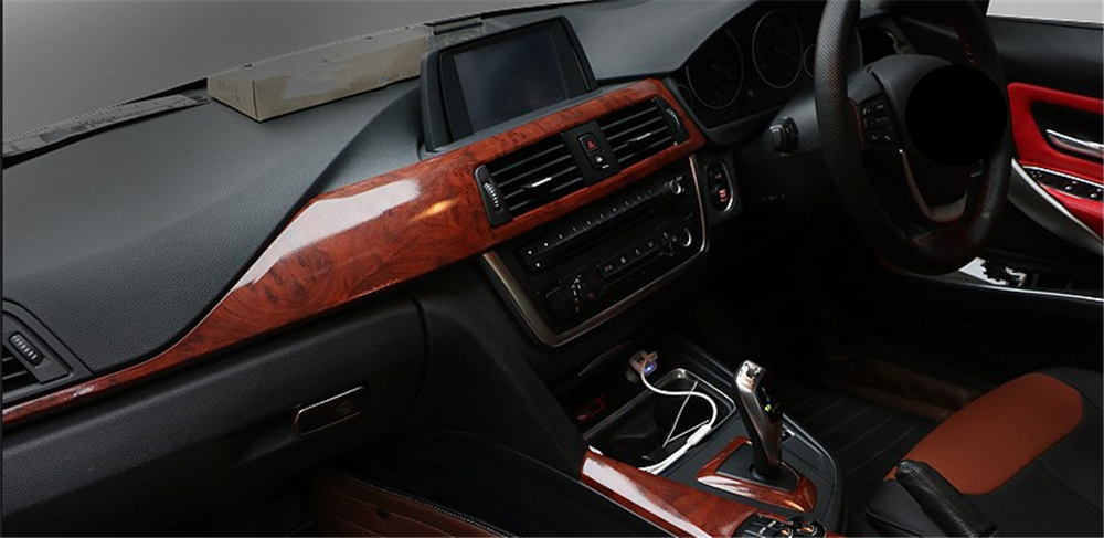 Image 5 - Car interior film wood grain paper color bright surface console for Toyota VIOS LAND CRUISER PRADO COASTER highlander-in Car Stickers from Automobiles & Motorcycles