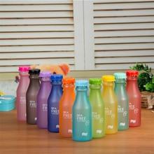 New Hot Sale Portable Leak-proof Bike Sports Unbreakable 550ml Scrub Plastic Water Bottle 10 Colors