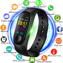 2019 New smart sports watch Women Smart Watch Men Heart Rate Blood Pressure Monitor Fitness Tracker Pedometer Watch+band(China)