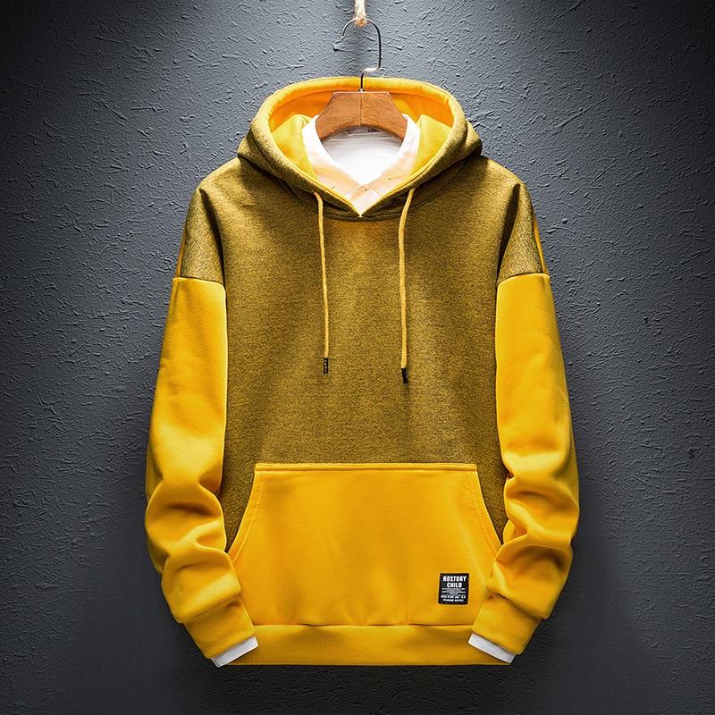 Hip Hop Hoodies Mens Hoody Clothes Warm Autumn Hoodie 2018 Fashion Streetwear  Hoodies For Men Black Yellow Plus Size 4XL S233